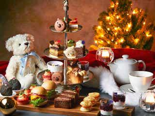 大阪「クリスマス テディベア ティーパーティー」クマ顔マカロンやクマの手ケーキのアフタヌーンティー