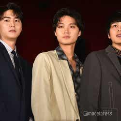 (左から)稲葉友、磯村勇斗、北村匠海(C)モデルプレス