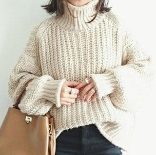 次に狙いたい!ざっくり編みがかわいいチャンキーニットにキュン♡