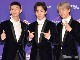 EXO-CBX「2017 MAMA in Japan」レッドカーペットに登場