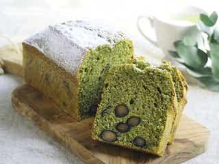 ホットケーキミックスで簡単!抹茶と黒豆のしっとりパウンドケーキ