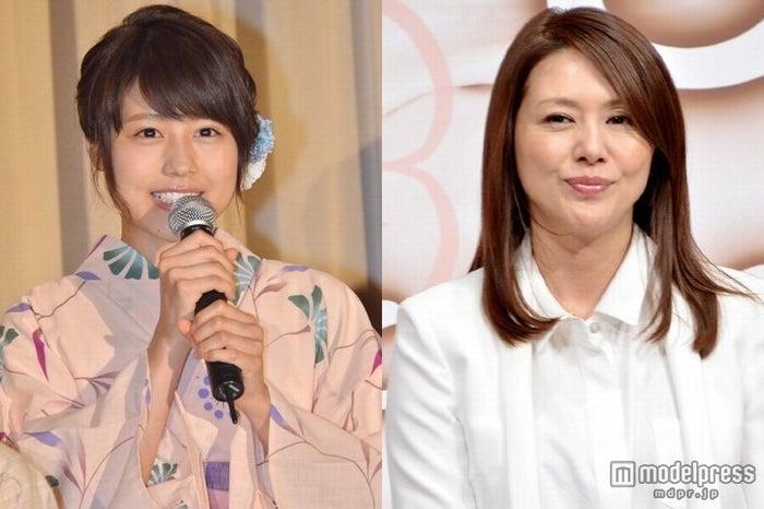 NHK朝ドラ「あまちゃん」での好演が話題の(左から)有村架純、小泉今日子