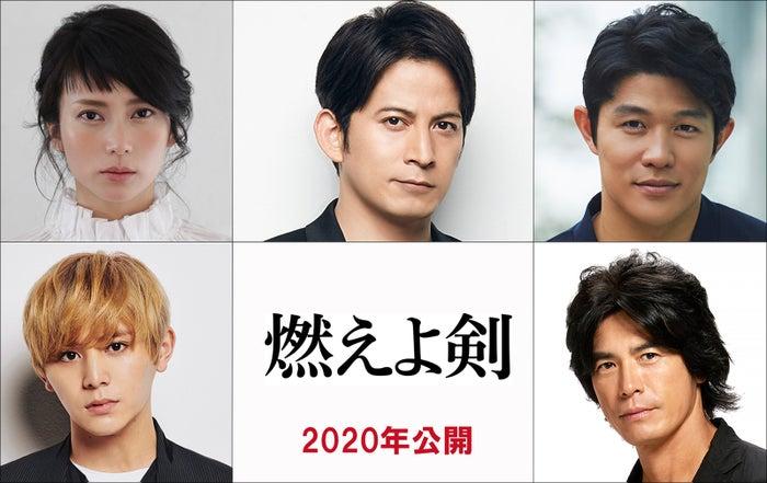 (上段左から)柴咲コウ、岡田准一、鈴木亮平(下段左から)山田涼介、伊藤英明(C)2020「燃えよ剣」製作委員会
