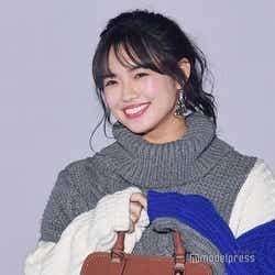 モデルプレス - E-girls山口乃々華、笑顔炸裂 萌え袖が可愛すぎ<GirlsAward 2018 A/W>