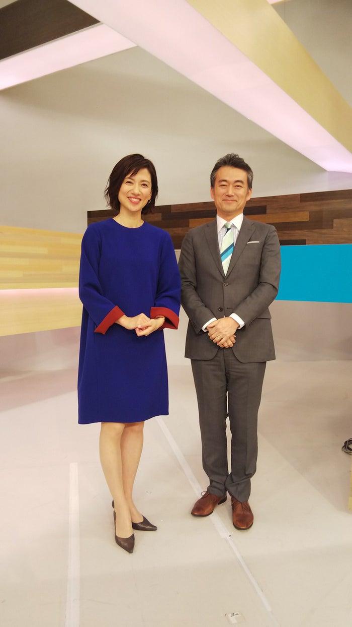 梅津弥英子アナウンサー、奥寺健アナウンサー/提供写真