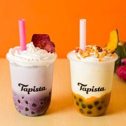タピオカスタンド「タピスタ」秋の味覚さつま芋&かぼちゃのパフェ風ドリンク