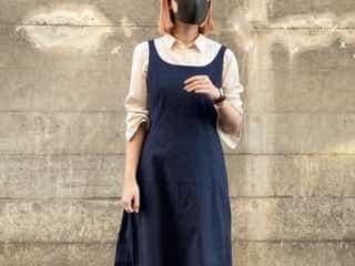 着痩せして見える♡ユニクロの「ロングワンピース」綺麗なシルエットでお洒落なんです。