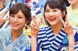 堤礼実アナ、永尾亜子アナ (C)モデルプレス