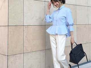 """春は""""ブルー""""で決まり! ファッショニスタの最新コーデをチェック♡"""