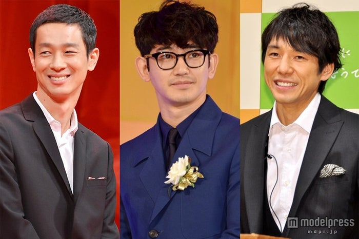 """""""塩顔男子""""代表(左より)加瀬亮、瑛太、西島秀俊"""