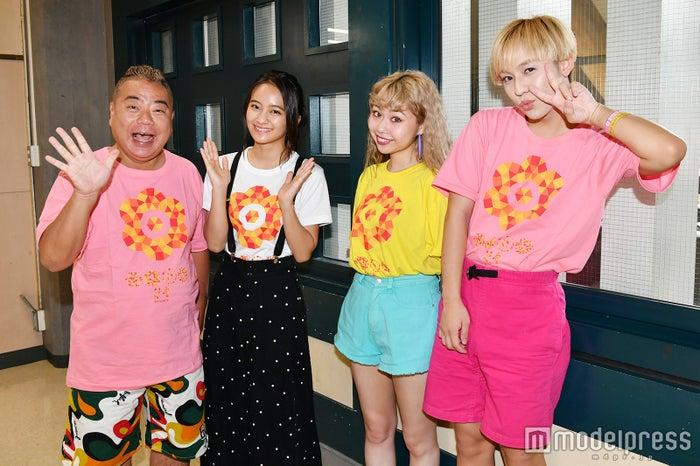 左から:出川哲朗、岡田結実、ぺこ、りゅうちぇる (C)モデルプレス