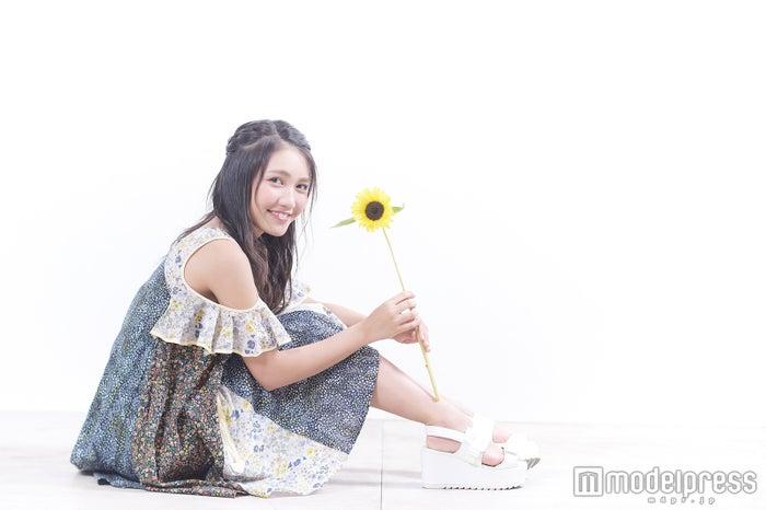シフォン素材のワンピはデートで着たい one-piece:ricori(リコリ)/shoes:didizizi(ディディジジ)