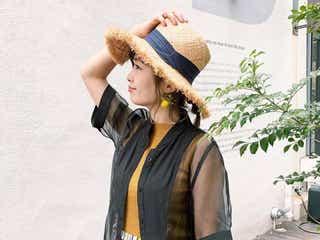 ストローハットを主役に! 夏気分がいつもより盛り上がる、麦わら帽から選ぶコーデ