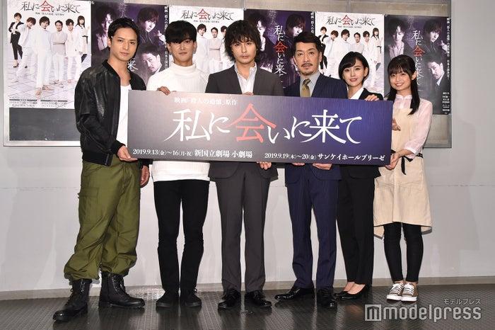 (左から)中村優一、グァンス、藤田玲、栗原英雄、兒玉遥、西葉瑞希 (C)モデルプレス