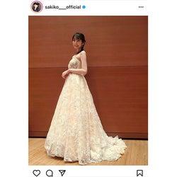 松井咲子、演奏会の可憐なドレスコーデを披露「ベルみたいで可愛かった〜」