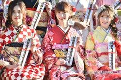 北川綾巴、荻野由佳、込山榛香/AKB48グループ成人式記念撮影会 (C)モデルプレス