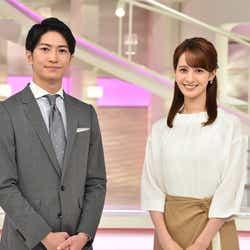 伊藤遼アナ、後呂有紗アナ(C)日本テレビ