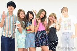 (左から)小南光司、石川千裕、池田菜々、池田美優、大塚愛里、藤田富(C)モデルプレス