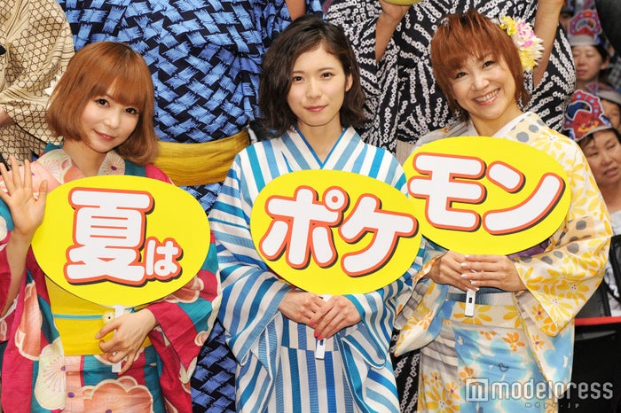 (左から)中川翔子、松岡茉優、松本梨香(C)モデルプレス