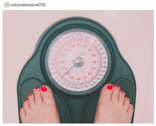 体重計を公開/渡辺直美Instagramより