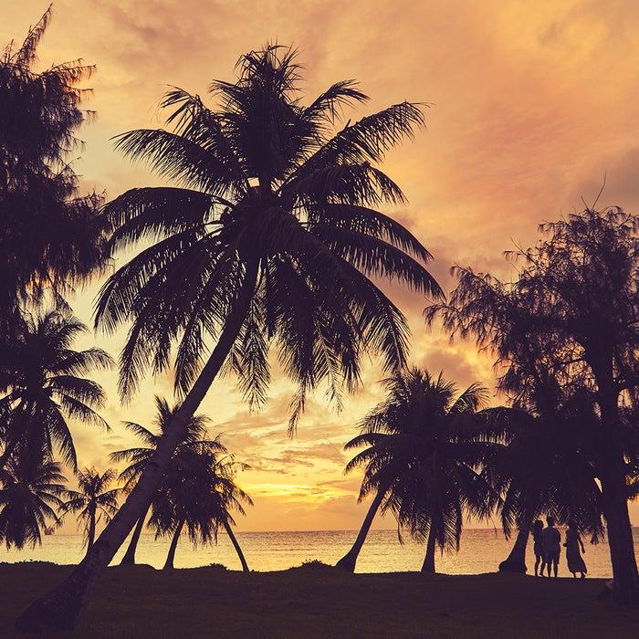繁華街が近いわりには人影もまばら。静かに過ごせる人気のビーチ (C)マリアナ政府観光局/MVA