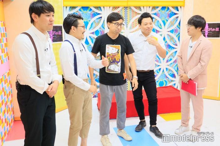 (左から)オズワルド(畠中悠、伊藤俊介)、おいでやす小田、インディアンス(田渕章裕、きむ)/(C)モデルプレス