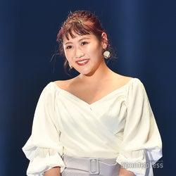 ダイエット成功の西野未姫、美デコルテ際立つエレガントスタイルで登場<TGC2020 S/S>