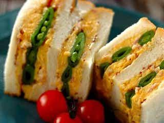 ふわふわシャキシャキ!「スナップエンドウとスクランブルエッグのサンドイッチ」