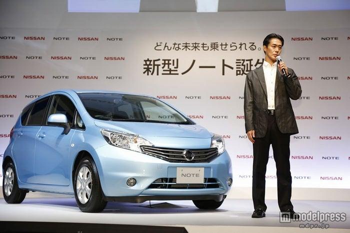挨拶を行った日産自動車のマーケティング・ディレクター小林氏