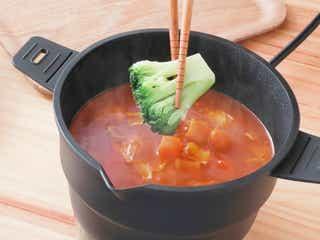 自炊はもう面倒じゃない!半分に折りたためる卓上電気鍋。煮込みから蒸し料理までおひとり様にも調度いいサイズ感