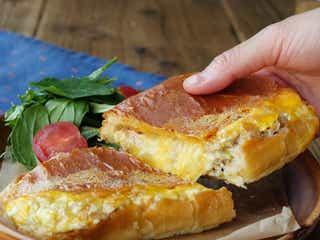 【まんぷくホットサンド部】「とろけるチーズのツナたまパニーニ」の作り方