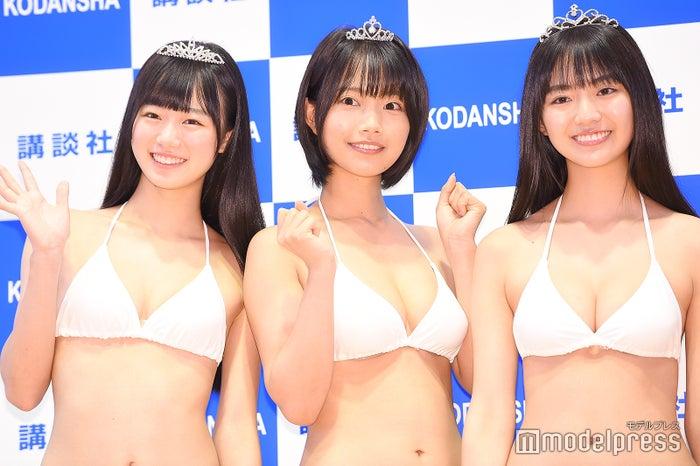 (左から)ぴーぴる、夏目綾、豊田ルナ (C)モデルプレス