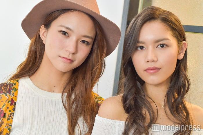 (左から)Leola、Anly(C)モデルプレス