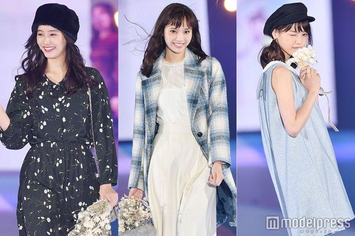 「GirlsAward 2016 AUTUMN/WINTER」に出演した新木優子、新川優愛、西野七瀬 (C)モデルプレス