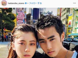 浅野忠信、娘・SUMIRE&息子・佐藤緋美の姉弟ショット公開「美男美女」と反響殺到