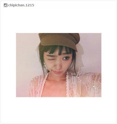 """新""""ちぴバング""""を披露/近藤千尋Instagramより"""