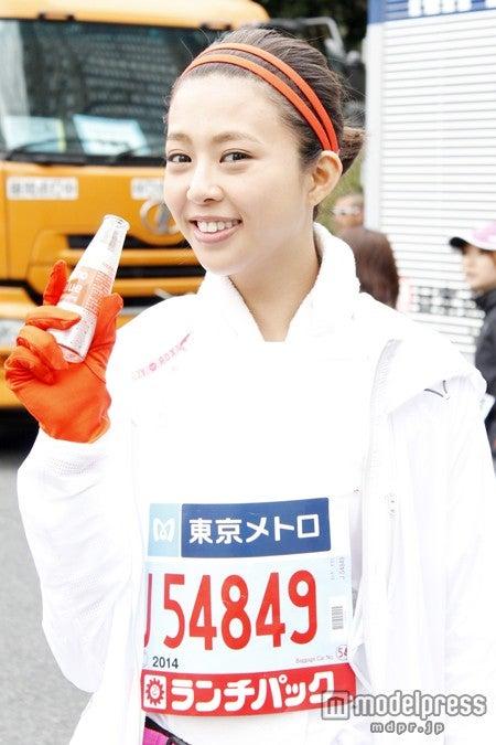 「東京マラソン2014」に出場し、見事完走した吉田夏海