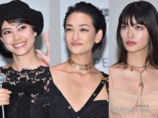 冨永愛「すごい格好をして来ました」 森星・福士リナら妖艶ドレスで美の共演