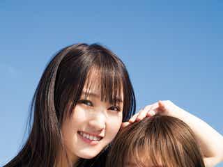 欅坂46菅井友香&守屋茜、笑顔弾ける密着2ショットに釘付け