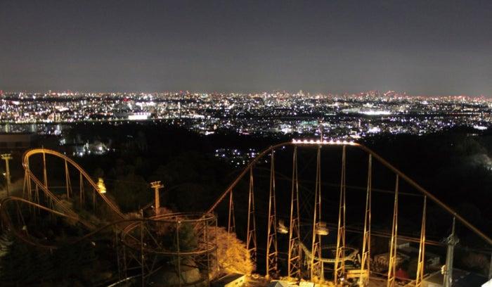 アトラクションから見下ろす夜景/画像提供:よみうりランド