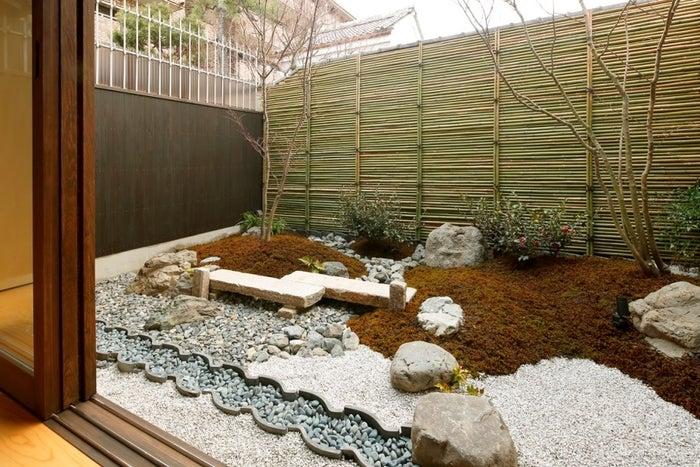 美しく整備された坪庭/画像提供:ワコール