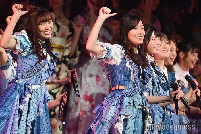 須田亜香里、松井珠理奈、横山由依「AKB48グループリクエストアワー セットリストベスト100 2019」 (C)モデルプレス