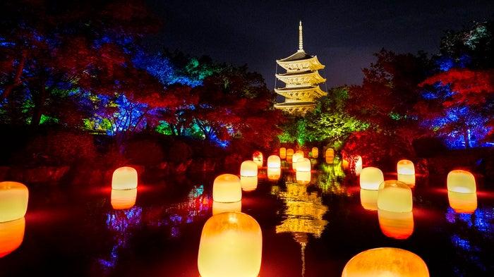 チームラボ 東寺 光の祭 - TOKIO インカラミ/画像提供:チームラボ