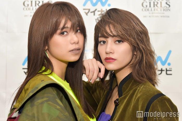 モデルプレスのインタビューに応じた佐藤晴美、楓(C)モデルプレス
