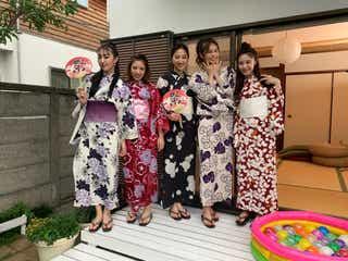 Flower、浴衣姿で集結 夏祭りで対決