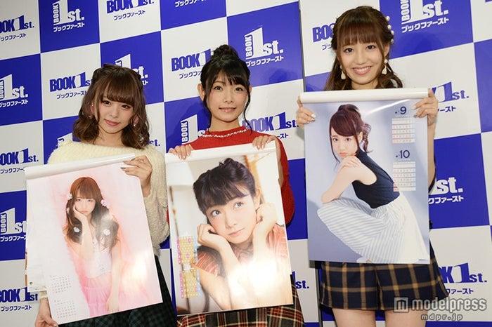 それぞれのオススメカットを紹介/(左から)佐藤麗奈、外岡えりか、石田佳蓮