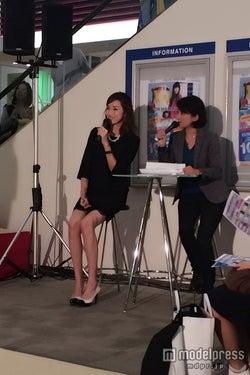 13キロ減量に成功したモデル仁香、ミニワンピで美脚披露 美ボディの秘訣とファッショントレンドを語る