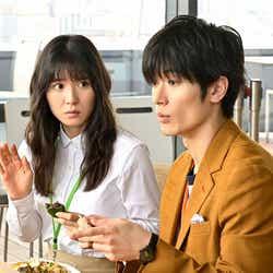 松岡茉優、三浦春馬さん「おカネの切れ目が恋のはじまり」第1話より(C)TBS