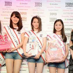 (左より)岩本愛未さん、勝部陽咲子さん、坂本澪香さん、藤田音歌さん、押切もえ
