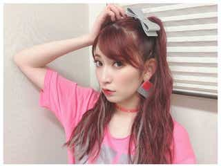 "NMB48吉田朱里""アカリンピンクヘア""がさらに可愛く「おしゃれ」「真似したい」と反響"